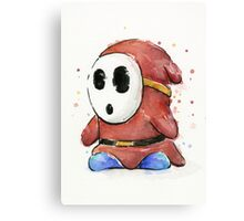 Shy Guy Watercolor Canvas Print