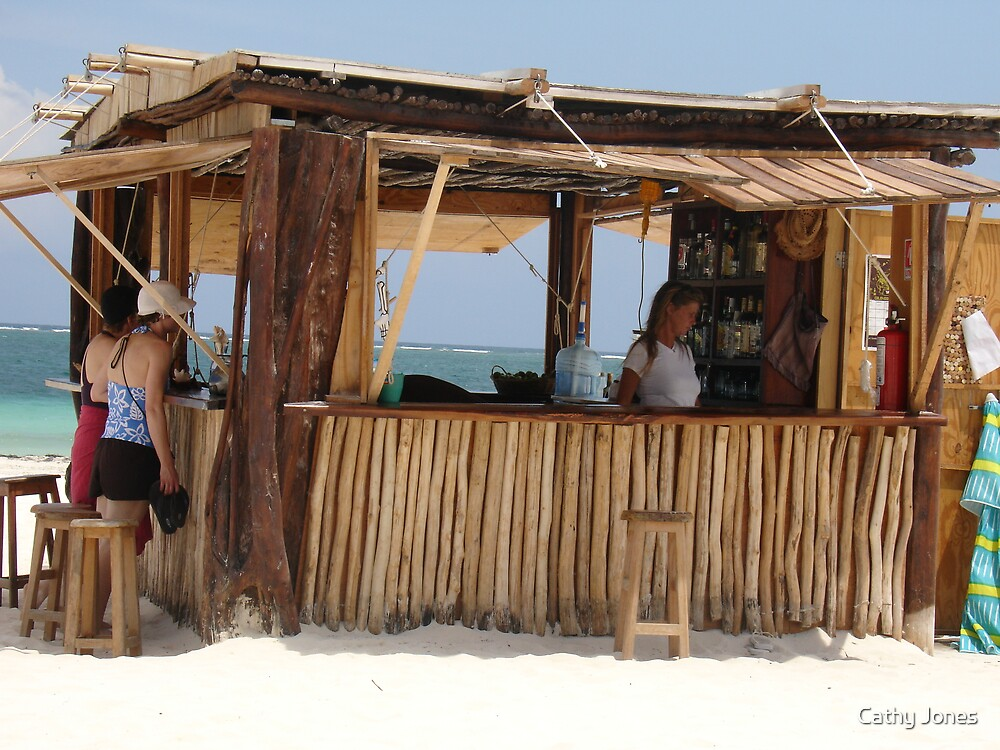 Ixchel Beach Bar by Cathy Jones