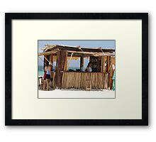 Ixchel Beach Bar Framed Print