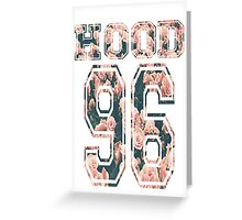 Hood ,96-Floral Greeting Card