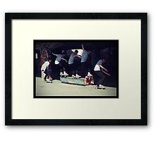 Southbank_Skating Framed Print