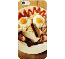 Friendly Breakfast Face  iPhone Case/Skin
