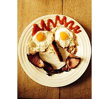 Friendly Breakfast Face  Photographic Print