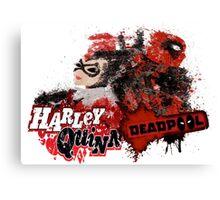 Harley Quinn VS Dead Pool v1 Canvas Print
