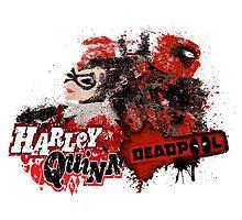 Harley Quinn VS Dead Pool v1 Photographic Print