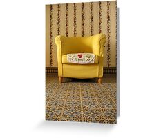 mamie's yellow chair. Greeting Card