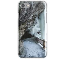 Dry Falls Cullasaja River Gorge Winter Western North Carolina Blue Ridge Mountains iPhone Case/Skin