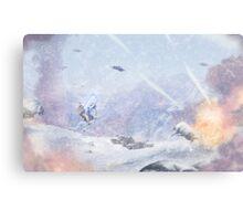 Burning Snow Canvas Print