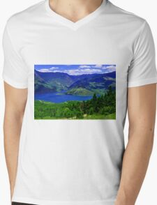 Scenic Greece Mens V-Neck T-Shirt