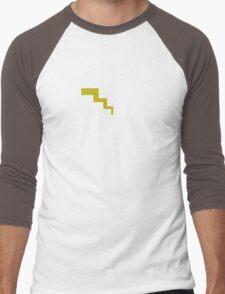 Pikachu Silhouette Men's Baseball ¾ T-Shirt