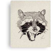 Rockin' Raccoon Canvas Print