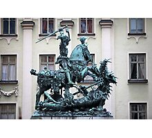 The statue of St. George and the Dragon Photographic Print