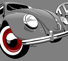 VW Beetle type 1 grey by car2oonz
