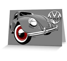 VW Beetle type 1 grey Greeting Card