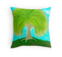 Butterfly Willow Throw Pillow