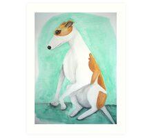 Kiff the greyhound Art Print