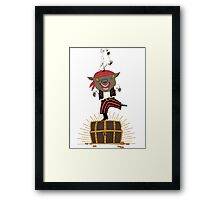 Pirate Happy Dance with Parrot Framed Print