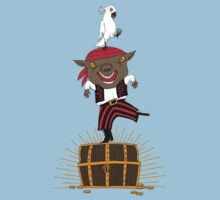 Pirate Happy Dance with Parrot by SusanSanford
