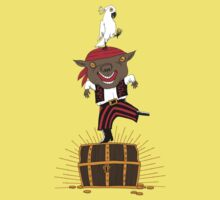 Pirate Happy Dance with Parrot Kids Clothes