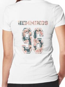 Hemmings '96- floral Women's Fitted V-Neck T-Shirt