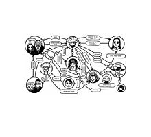 Zoldyck Family Flow Chart Photographic Print