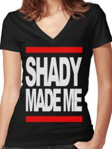 shady made me Women's Fitted V-Neck T-Shirt