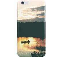 Canoe at Sunset iPhone Case/Skin