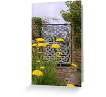 Yellow Tansy and a Gate Greeting Card