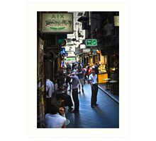 """Street Life "" Art Print"