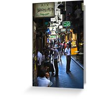 """Street Life "" Greeting Card"