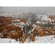 Winter in Bryce, Utah Photographic Print