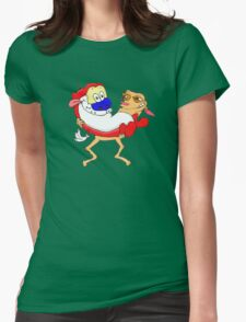 Modern Ren and Stimpy  Womens Fitted T-Shirt