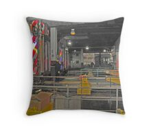 THE END - UNION STATION CHICAGO Throw Pillow
