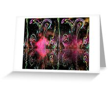Plastic Universe Abstract Reflection Greeting Card