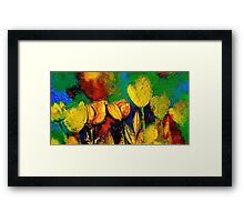 The Tulip Bed Framed Print
