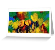 The Tulip Bed Greeting Card