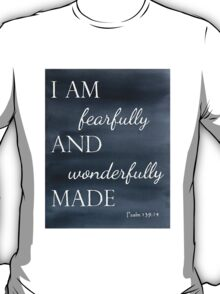 Psalm 139:14 Watercolor T-Shirt