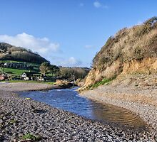 Little River At Branscombe by Susie Peek