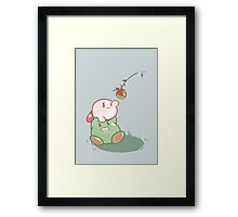 Kirby: Apple Framed Print