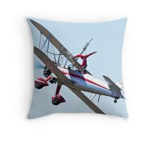 Silver Wings Throw Pillow