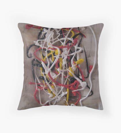 Tribute To Jackson Pollock Throw Pillow