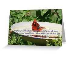 Cardinal Baptism Greeting Card