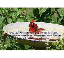 Cardinal Baptism Photographic Print
