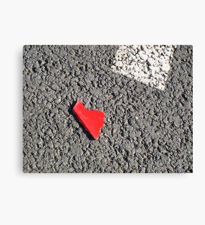 I left my heart on the street#1 Canvas Print