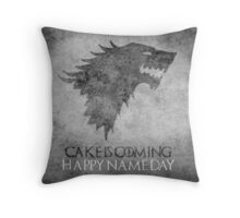 Game of Thrones Birthday: Happy Name Day, Cake is Coming Throw Pillow