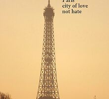 Paris love not hate by graceloves