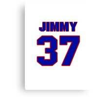 National baseball player Jimmy Bloodworth jersey 37 Canvas Print