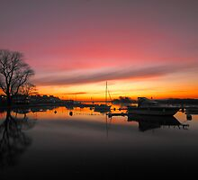 Christchurch River Stour at dawn by delros