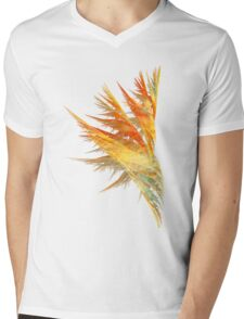 Flame Mens V-Neck T-Shirt