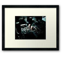 Electronic Romance Framed Print